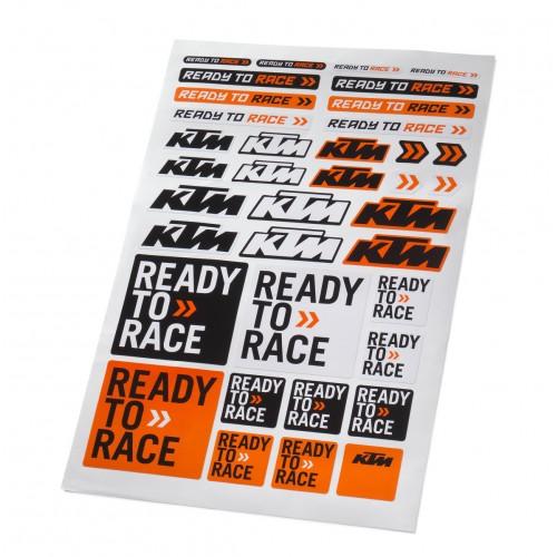 Лист с фирменными наклейками KTM